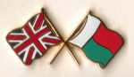 Great Britain and Madagascar Friendship Flag Pin Badge